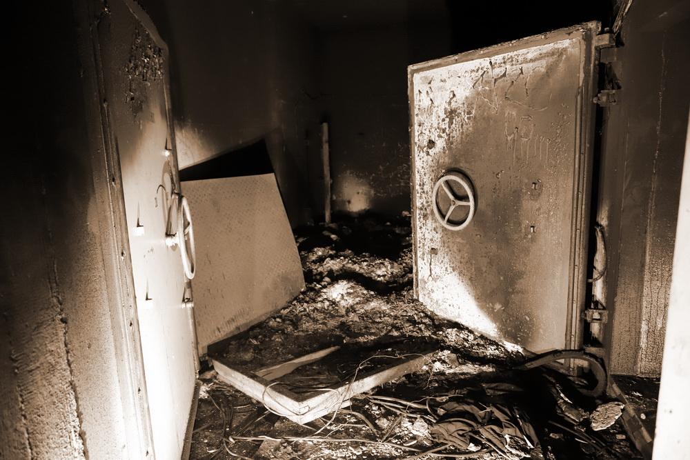 Brandschaden im inneren Montageschacht!